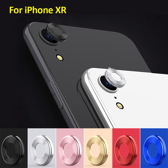 official photos 4a9fe a6039 US $0.99 20% OFF|Aliexpress.com : Buy For iPhone XR Camera Lens Protector  Ring Plating Aluminum For iPhone XR Camera Case Cover Ring Protection from  ...
