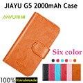 Телефон чехол для JIAYU G5 2000 mAh кожа, [ 6 цветов ] ретро роскошь перевёрнутый для G5 2000 mAh дизайн чехол делюкс сумасшедший лошадь карта держатель бумажник