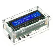 Zegar cyfrowy zestaw DIY data czas wyświetlacz temperatury z przezroczyste etui LCD wyświetlacz temperatury i czasu data i dzień
