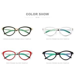 Image 5 - FONEX asetat gözlük çerçeve kadınlar kedi göz reçete gözlük miyopi optik çerçeve Cateye gözlük vidasız gözlük 618