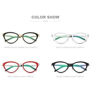 Image 5 - Fonex acetato óculos quadro feminino cat eye prescrição óculos miopia quadro óptico cateye óculos screwless 618