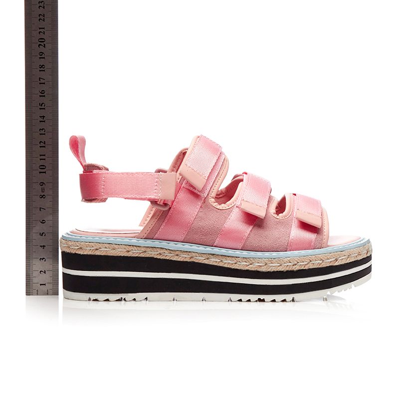 c74e5dcea Kcenid Женские босоножки 2018 летние новые модные босоножки на платформе на  танкетке на толстой подошве повседневная женская обувь ручной работы  розовый ...