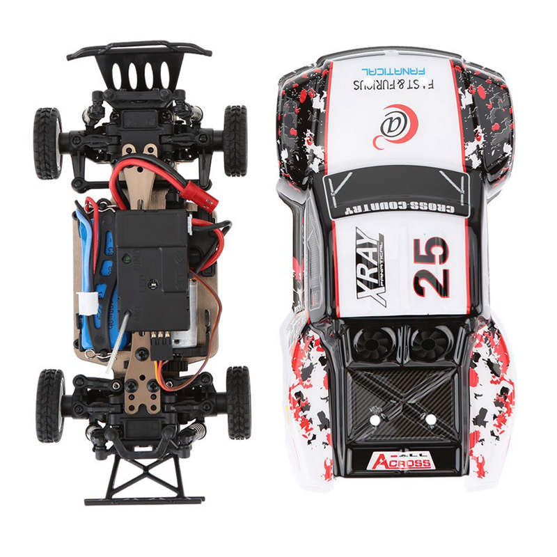 RC car WLtoys K999 1:28 short course 2.4G PNP RTR 4WD with brushless upgrade Leopard Hobby 1625 motor HobbyWing 30A ESC цена