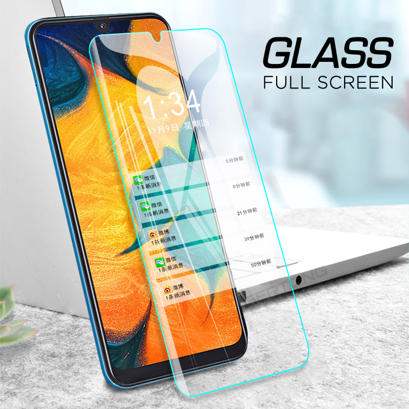Image 3 - 9H Tempered Glass For Samsung Galaxy A50 A30 M20 M30 A10 M10 A7 2018 A750 Transparent Cover Screen Protector Toughened Glass-in Phone Screen Protectors from Cellphones & Telecommunications
