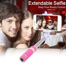 Portable Mini folding cell mobile phone Wired self Selfie Sticks Handheld Monopod Tripod For iPhone Samsung Android Smartphone
