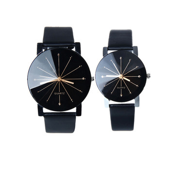 2020 couple watches Luxury brand men and women Quartz Dial Clock Leather Wrist Watch Round Case clock  A80