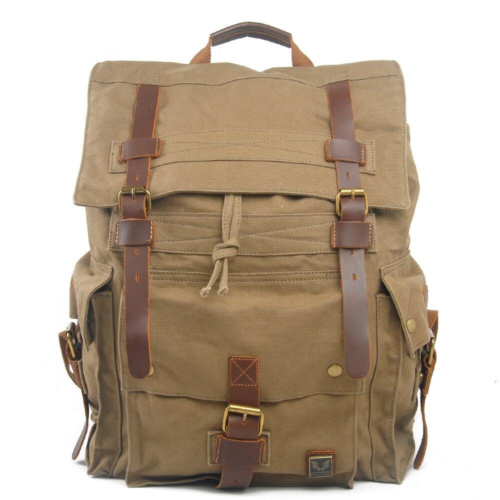 ФОТО 2016 Women Men Canvas Vintage Rucksack Backpacks Travel Package Shoulder Bags Tourism Large capacity Backpack