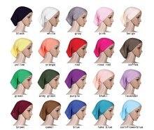 新教徒ヒジャーブショートヒジャーブ女性のためのイスラムチューブインナーキャップ卸売イスラムヒジャーブ岬20ピース/ロット