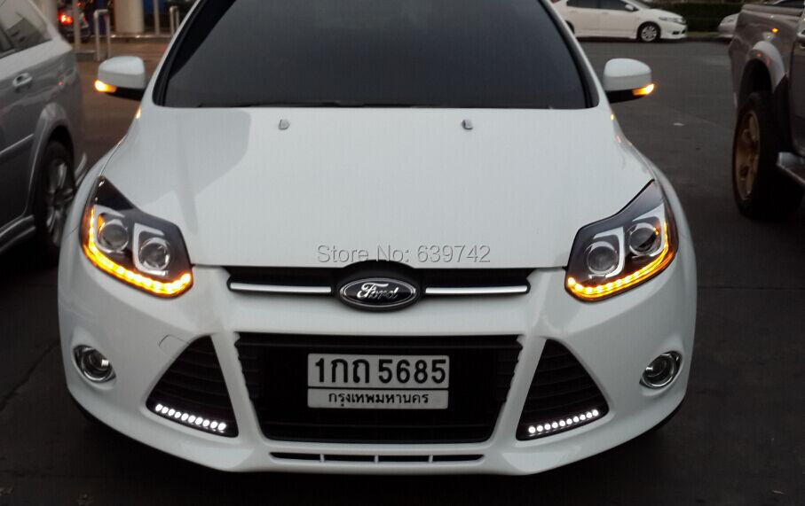 2017 Year For Ford Focus 3 Double Color Led Strip Head Lights Lamp Front Light With Projector Lens Ld V3 In Car Embly From Automobiles