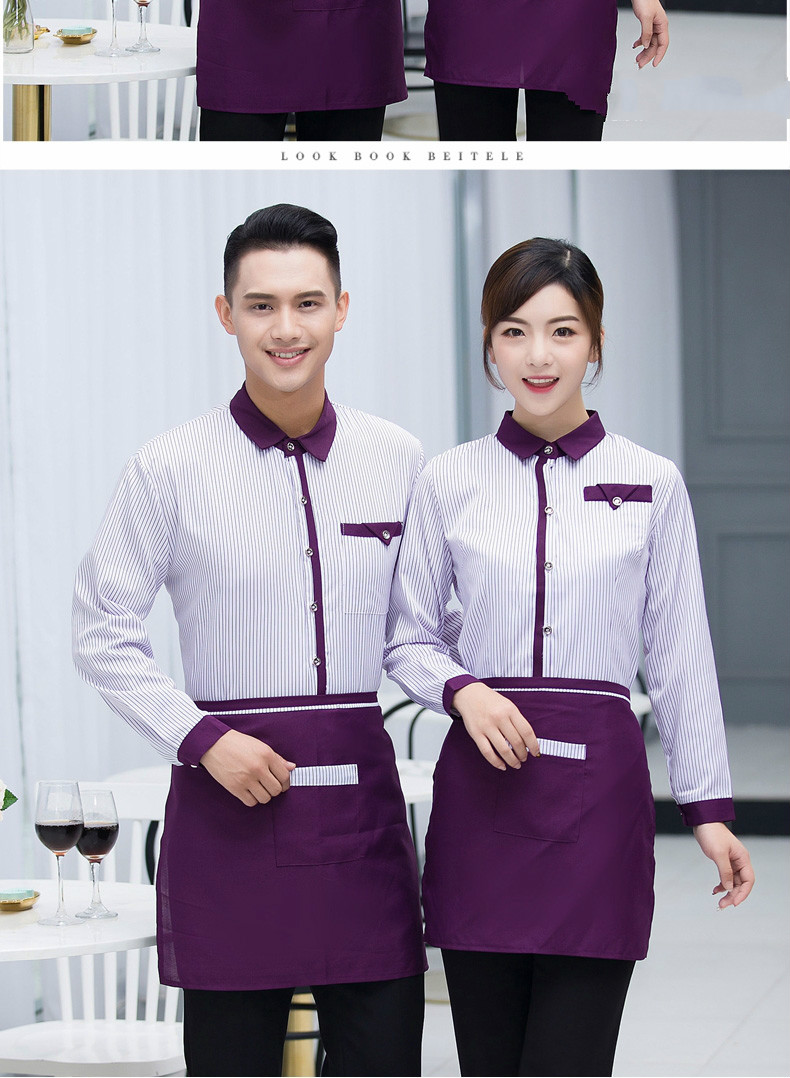 Home Hotel Work Clothing Fall/winter Women Long Sleeve Vintage Uniform Chinese Traditional Restaurant Waiter Shirt+apron Set Sales Great Varieties