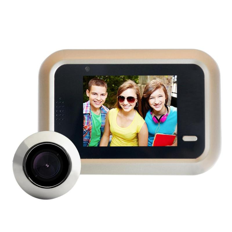 2.4 inch LCD Color Screen Wireless Doorbell WiFi Video Home Security Door Phone Intercom System Digital Peephole Viewer Doorbell