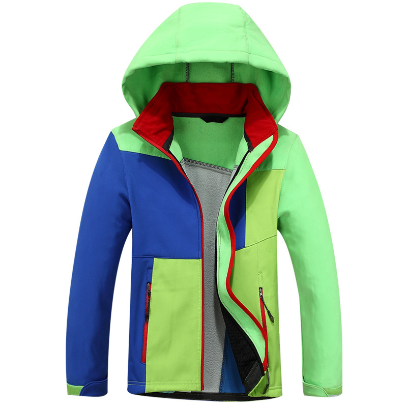 Waterproof Outfits Children Tech Coat Warm Baby Boys Soft Shell Jackets Children Outerwear Kids Windbreaker For 2-10 Years Old spring outfits for kids
