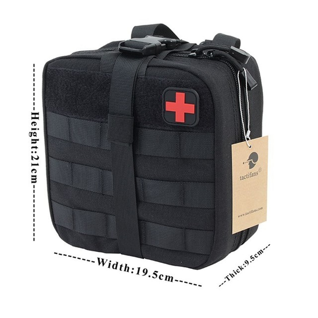 TACTIFANS First Aid Pouch Patch Bag Molle Hook and Loop Amphibious Tactical Medical kit EMT Emergency EDC Rip-Away Survival IFAK 6