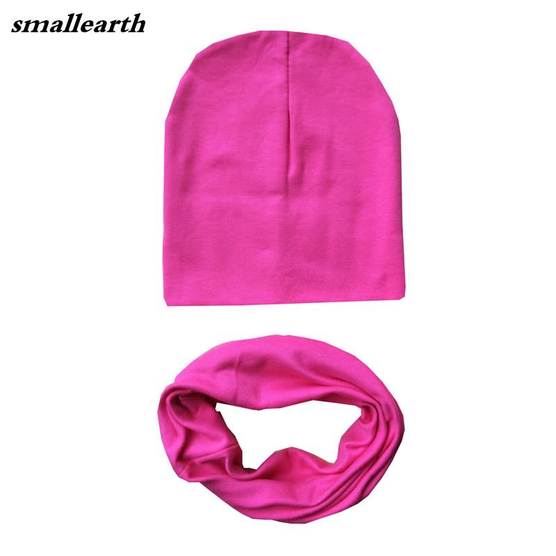 Fashion Autumn Winter Children Hat Sets Baby Cotton Hat Scarf Collars Star Print Boys Girls Beanies Kids Cap Child Hats Set