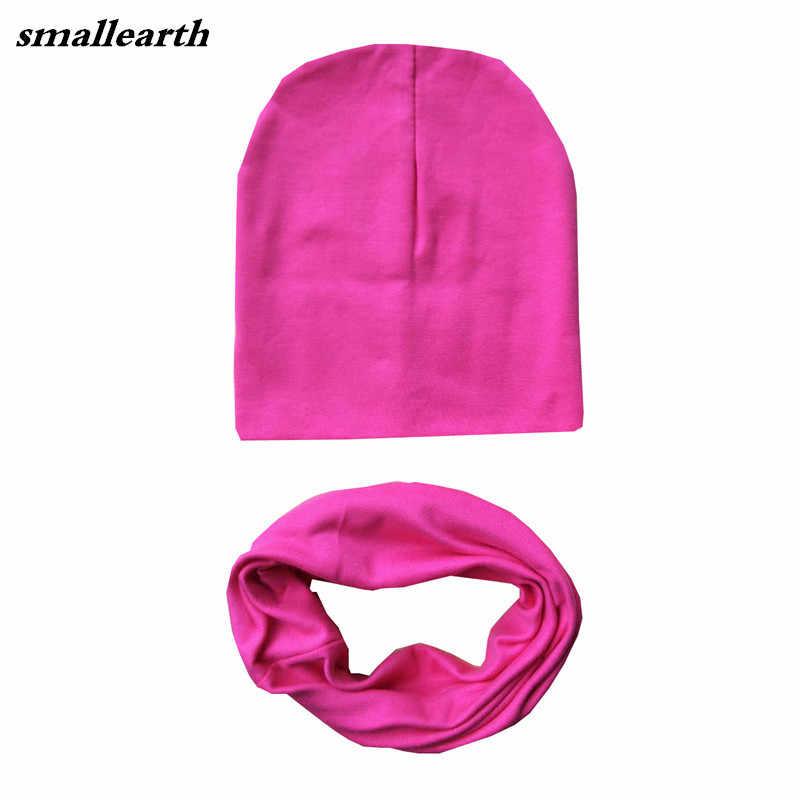 Fashion Autumn Winter Children Hat Sets Baby Cotton Hat Scarf Collars Star  Print Boys Girls Beanies c820727be337