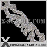 Recorte de apliques de diamantes de imitación de cristal de DHL envío gratis