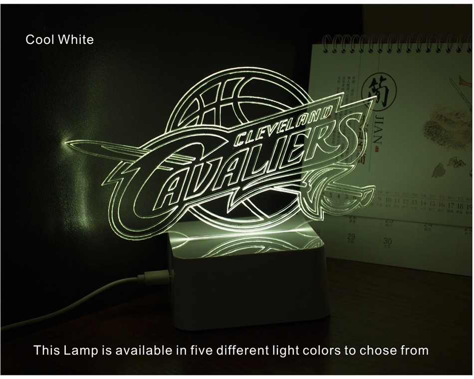 USB Novel Lamp NBA 3D LED Night Lights as Home Bedroom Decorative Besides Lampara for Cavalier Team (4)