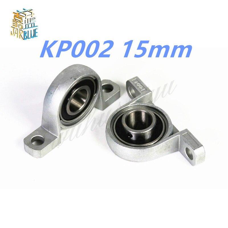 цена на 2Pcs Pillow Block Bore KP002 15mm Inner Diameter Zinc Alloy Metal Ball Bearing 15MM KP002