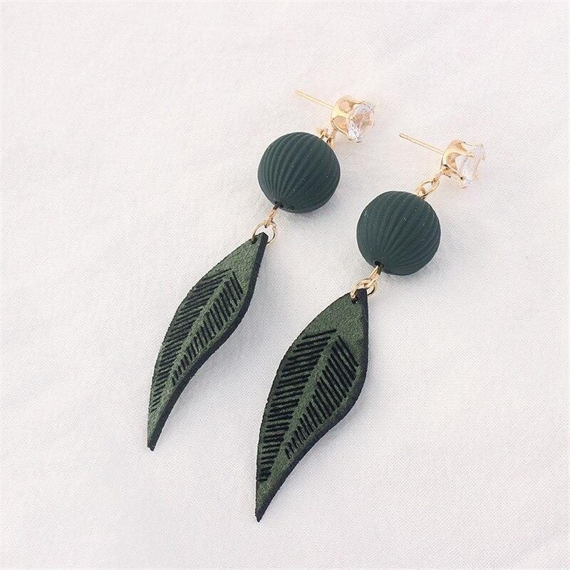 2018 Women New fashion cute hollow Leaves earrings lantern earings Bohemia vintage long earrings for girls gift jewelery