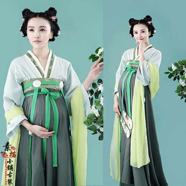 1dbe7d96d Jing Ning Pregnant Mummy Thematic Costume Hanfu for Women Tang Dynasty High  Waist Dress