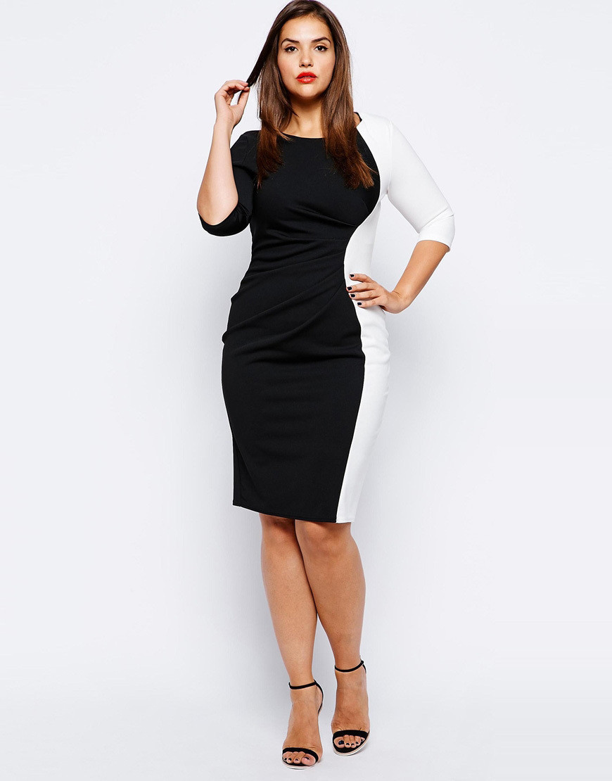 woman dress white black Fat