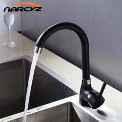 Для кухни черный одной ручкой Смеситель для кухни холодной и горячей кухонный кран на одно отверстие водопроводной воды torneira cozin кран XT-1001