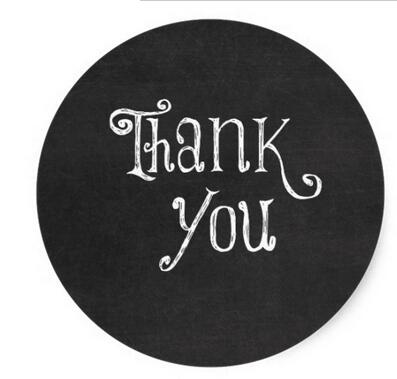 1 5inch Black And White Thank You Classic Round Sticker Sticker Factory Sticker Sealstickers Pig Aliexpress