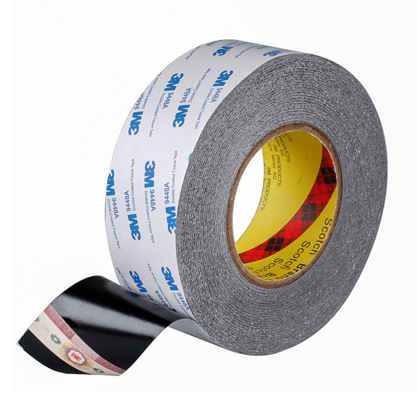 3M 9448A Black High-temp Double Sided Tissue Tape For Cellphone Touch Screen Lcd Display Pannel 2mm 3mm 4mm 5mm ~100mm x 50m