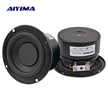 AIYIMA 2 шт. сабвуфер аудио динамик портативный мини стерео колонки НЧ динамик полный диапазон громкоговоритель Рог 3 дюймов 4 Ом 8 Ом 25 Вт