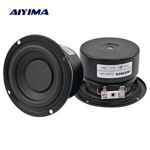 AIYIMA 2PCS Subwoofer Audio Speaker Portable Mini Stereo Speakers Woofer Full Range Loudspeaker Horn 3 inch 4 Ohm 8 Ohm 25W
