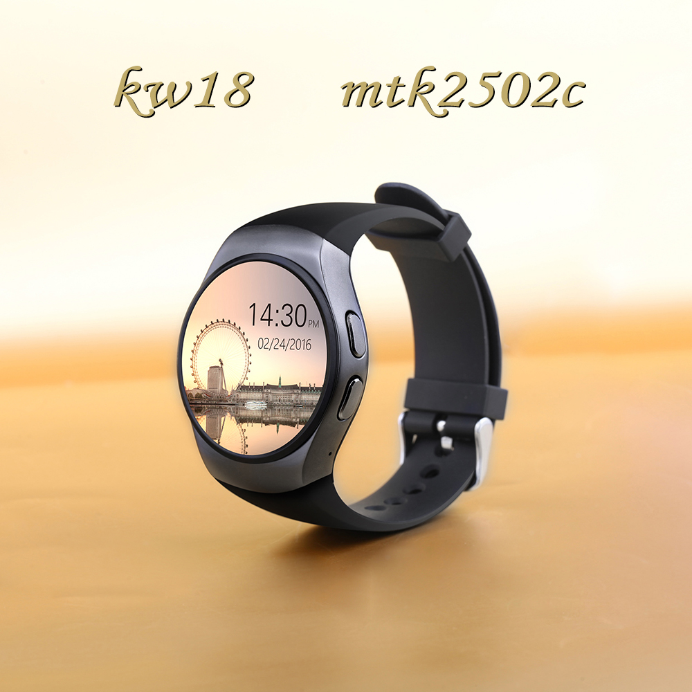 2016 Best KW18 Smart Watch Heart Rate Monitor Bluetooth 4.0 Smartwatch MTK2502C Siri & Gesture Control For iOS Andriod mobile bluetooth smart watch heart rate monitoring g3 plus smartwatch support siri voice control raise bright screen for android ios