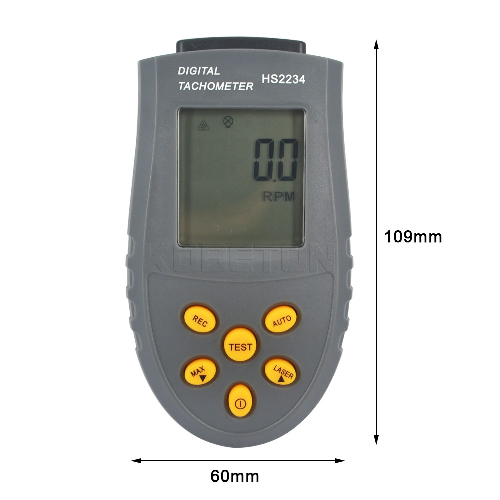 Digital Laser Tachometer Photo Lcd Rpm Test Small Engine