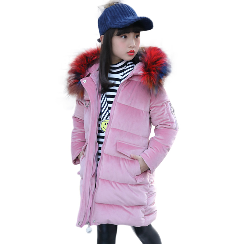 2018 NEW Baby Girl Clothes Winter Fashion Warm down Jacket Children's Pure Cotton Clothes Kids Outerwear Coat Children down стоимость