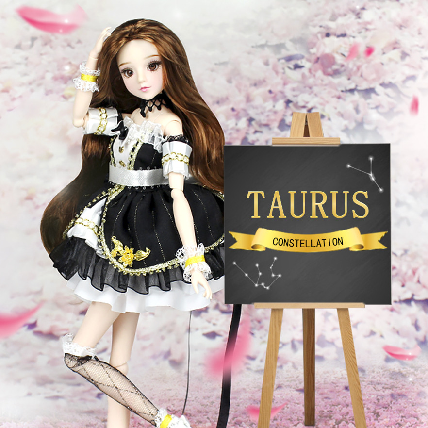 MMG Girl blyth doll BJD joint body 12 constellations Taurus with outfit boots stand baby toy