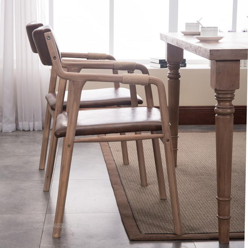 Dining Chairs Kitchen Livng Room Solid Wood Accent Chair
