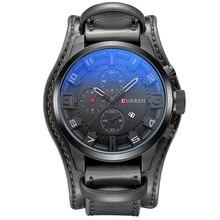 Curren hombres Casual Sport Reloj de Cuarzo Para Hombre Relojes de Primeras Marcas de Lujo Reloj de Cuarzo Correa de Cuero Militar Reloj de Pulsera Reloj masculino