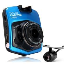 Новинка 2017 года 2 объектива Видеорегистраторы для автомобилей Двойной Камера gt300s 1080 P видео Регистраторы с заднего вида Камера S Ночное видение видеокамера Blackbox
