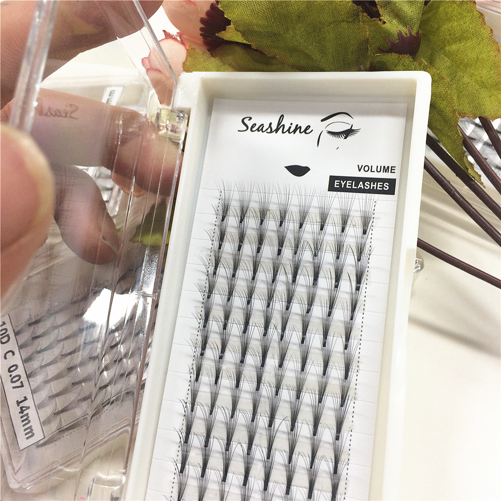 Russian Voulme Eyelashes Extension 10D Short Steam Premade Fans Top quality Real Mink Lashes Extension Customized Free Shipping