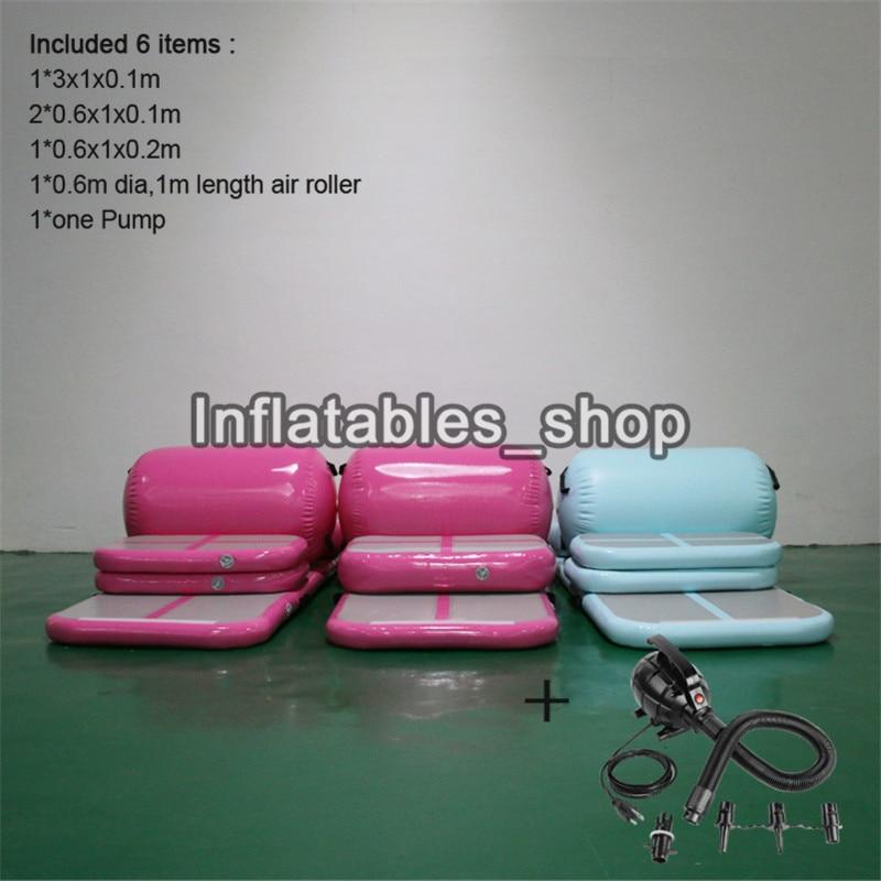 Livraison gratuite porte à porte un ensemble (6 pièces) gonflable Gym Airtrack Tumbling Yoga tapis Air Trampoline piste pour les enfants - 4