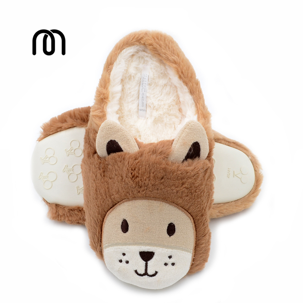 Millffy new super adorable lion plush slipper shoes Home warm winter floor slippers shoe lovers couple slippers