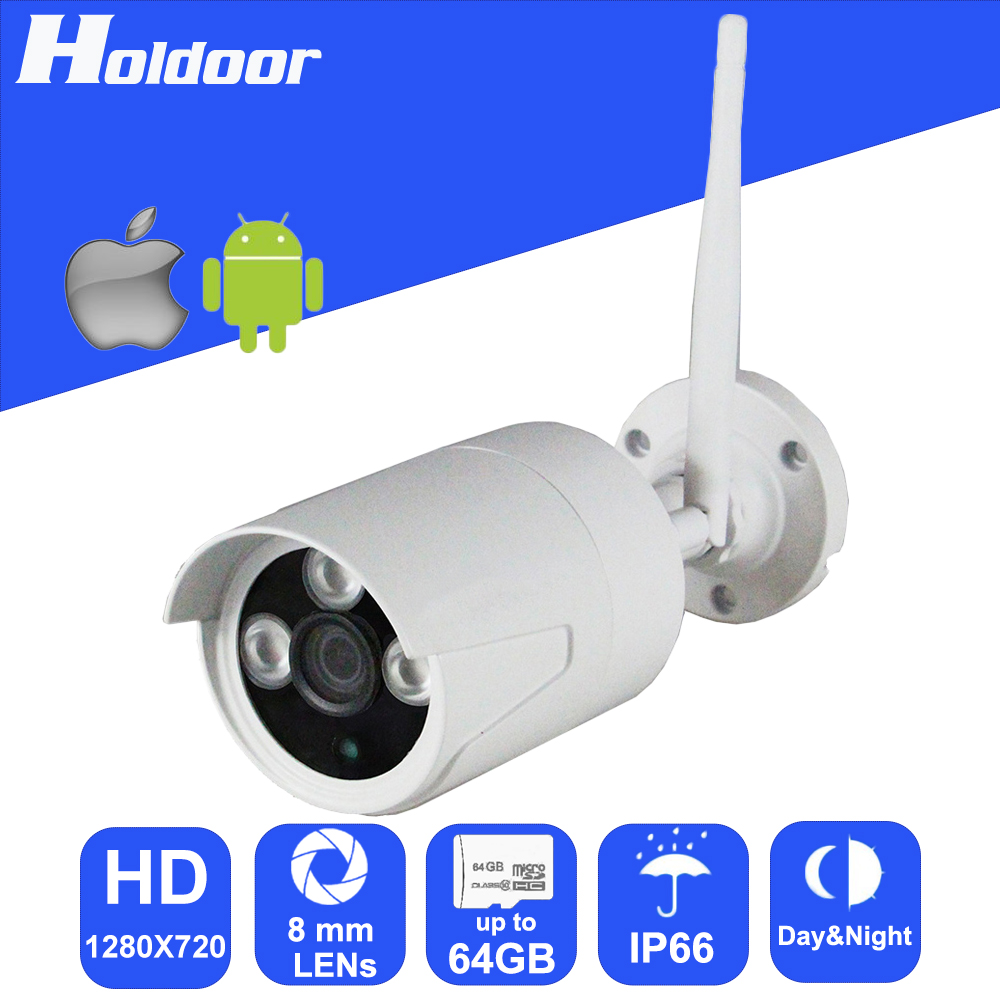 Wireless 720P HD 8mm Lens Security surveillance P2P Outdoor Camera IR Cut Night Vision Motion Detection Video Camcorder hd cvi camera systems 1 0mp 720p 42pcs ir led 2 8 12mm lens security camera system outdoor night vision camera surveillance