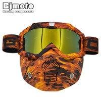 Hot Sales CRG Modulaire Masker Afneembare Bril En Mond Filter Perfect voor Open Gezicht Motorfiets Half Helm of Vintage Helmen