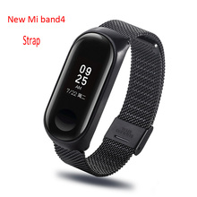 цены Metal watchband for xiaomi mi band 4 strap stainless steel mi band 4 correa Wrist Strap Pulseira Miband4 black Miband4  bracelet