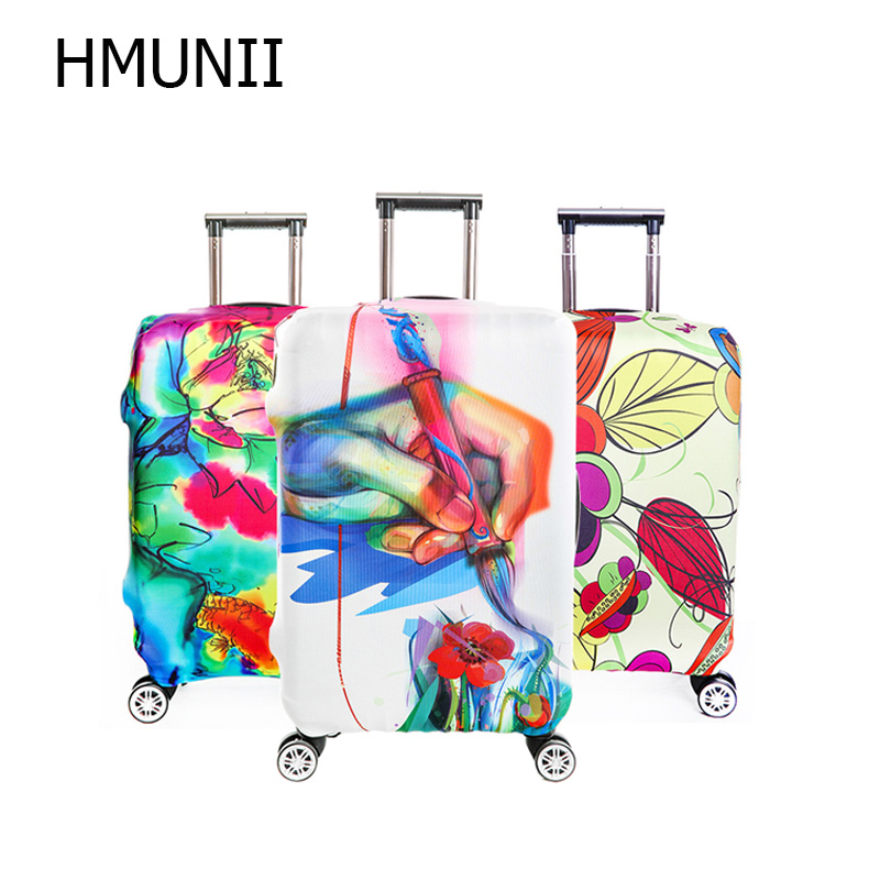HMUNII Brand Travel Luggage Suitcase Protective Cover for Trunk Case Apply to 18''-32'' Suitcase Cover Thick Elastic Perfectly