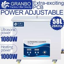 آلة التنظيف بالموجات فوق الصوتية 58L حمام 1080 واط 18 قطعة محول الطاقة 110 فولت/220 فولت 28 كيلو هرتز أقوى الاهتزاز إزالة بقع النفط
