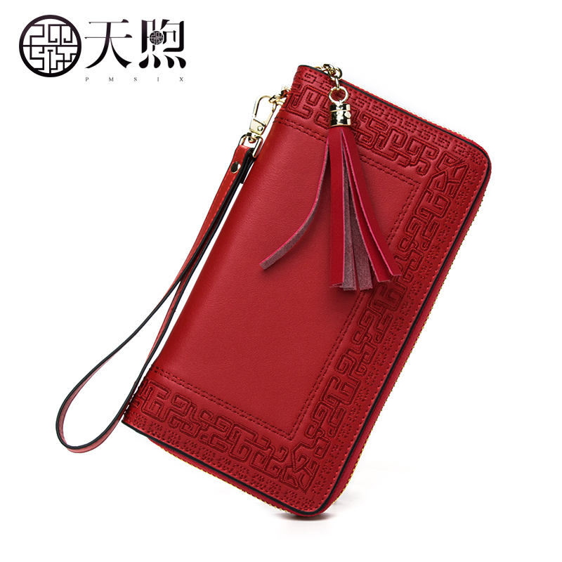 ФОТО Pmsix2017 autumn and winter new female wallet long section female tide embroidery purse P420017