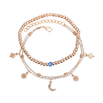 ZORCVENS 2020 Boho Style Star Moon Anklet Fashion Multilayer Foot Chain New Ankle Bracelet for Women Beach Accessories Gift 2