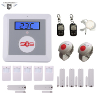 Manual Home Security GSM Alarm System LCD Screen Temperature Alarm Elderly Care SOS Button Burglar Alarm K3E DHL Free Shipping