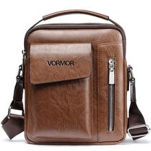 VORMOR винтажная мужская сумка на плечо брендовая кожаная сумка-мессенджер с передним карманом непромокаемая деловая сумка через плечо для мужчин 2019