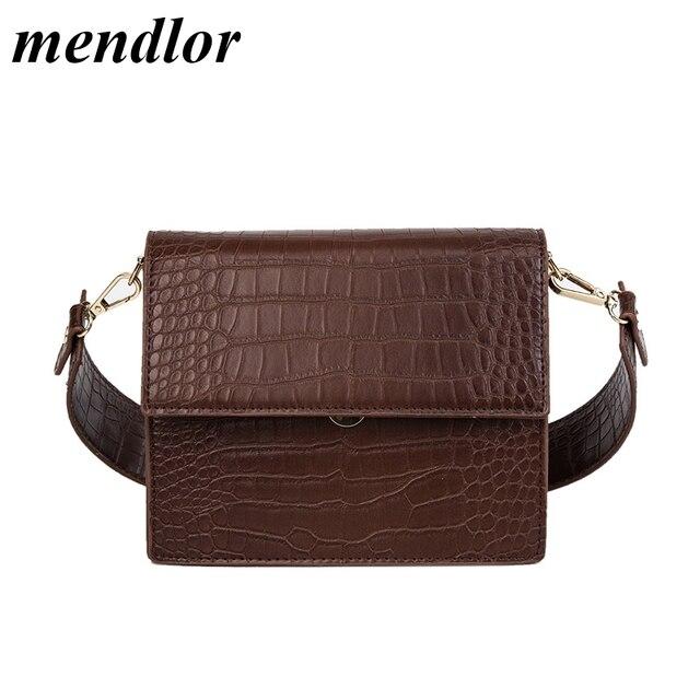 Das mulheres Bolsa De Grife De Luxo 2019 Nova Moda de Alta qualidade PU Mulheres De Couro Bolsas de Crocodilo padrão de Ombro bolsa Saco Do Mensageiro